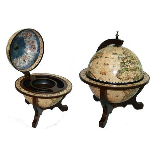 Глобус-бар Сокровища древнего мира, настольный, 45x45x59 см