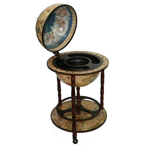 Глобус-бар Сокровища древнего мира, настольный, 50x50x90 см
