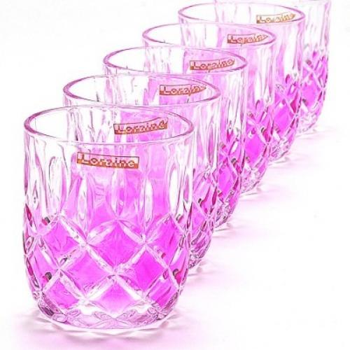 Набор стаканов Loraine, 6 штук (фиолетовый)