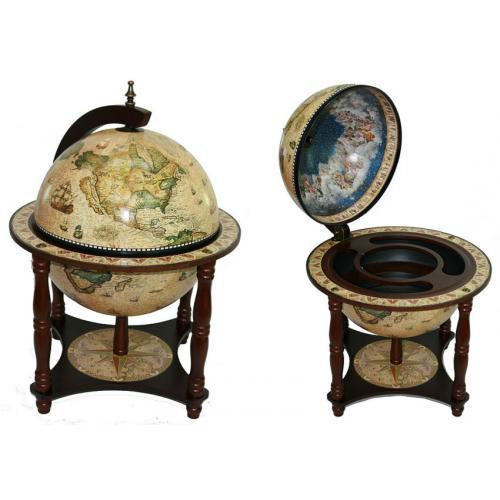 Глобус-бар Сокровища древнего мира, настольный, 42x42x57 см, арт.47041