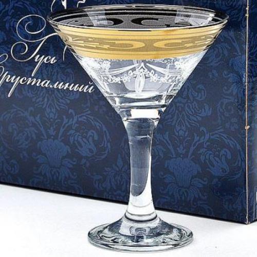 Набор бокалов для мартини Русский узор, 170 мл, 6 штук