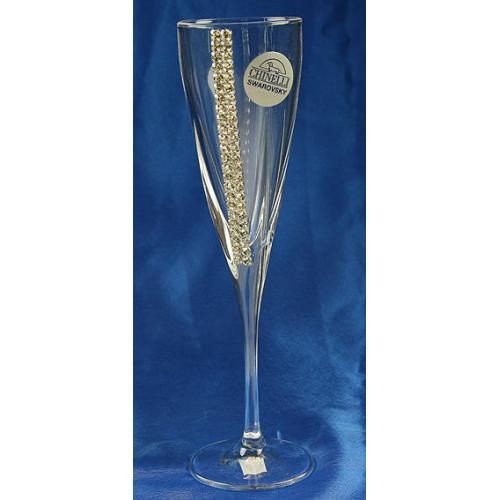 Подарочный набор бокалов для шампанского Chinelli Regina, с кристаллами Swarovski, на 2 персоны