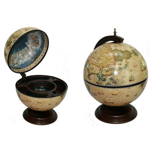 Глобус бар Сокровища древнего мира настольный, 41х41х56 см