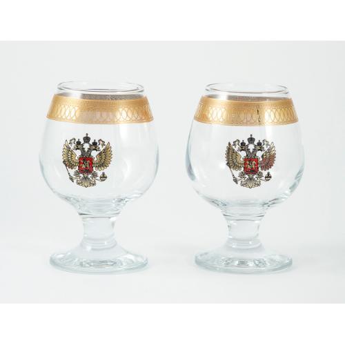 Подарочный набор для бренди Герб, 2 бокала, 250 мл