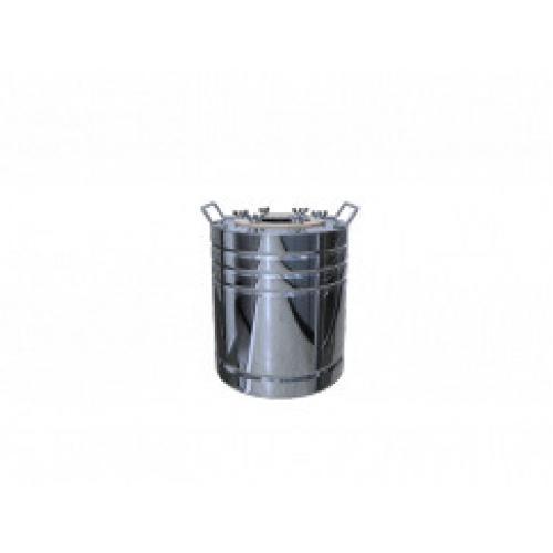 Перегонный куб Добрый Жар, с ребрами жесткости, 12 литров, зеркальный