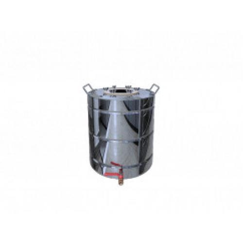 Перегонный куб Добрый Жар, с ребрами жесткости, с краном, 25 литров, зеркальный