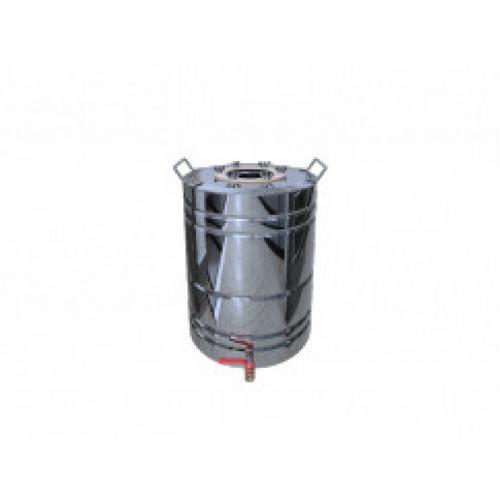 Перегонный куб Добрый Жар, с ребрами жесткости, с краном, 40 литров, зеркальный