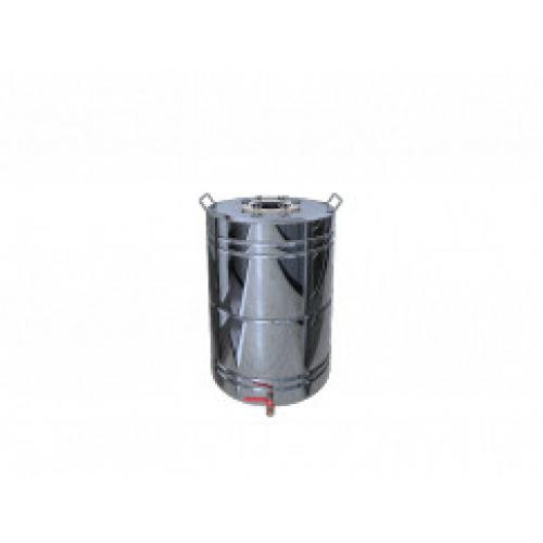 Перегонный куб Добрый Жар, с ребрами жесткости, с краном, 50 литров, зеркальный