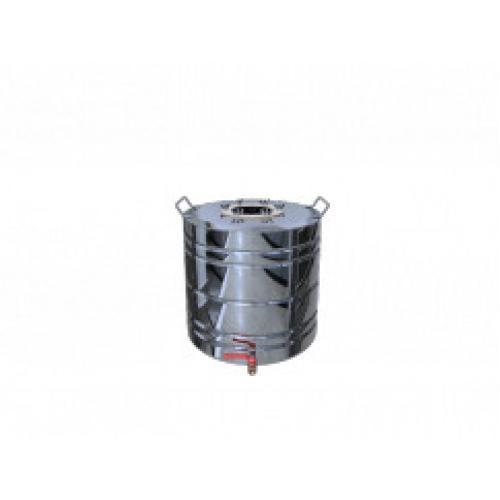 Перегонный куб Добрый Жар, с ребрами жесткости, с краном, 35 литров, зеркальный