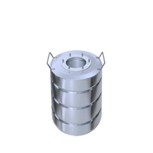 Перегонный куб Добрый Жар, с ребрами жесткости, 15 литров, матовый