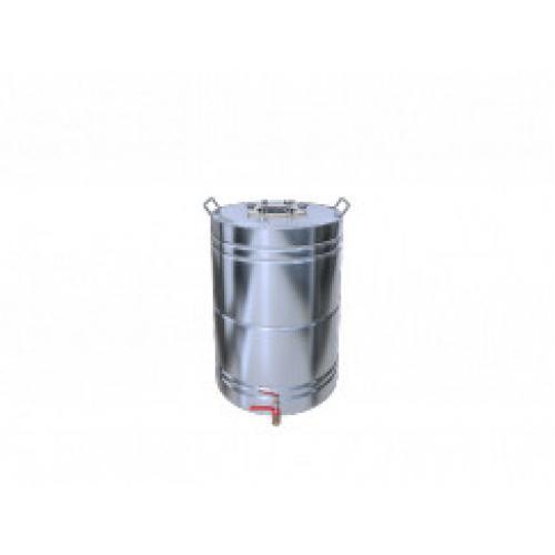 Перегонный куб Добрый Жар, с ребрами жесткости, с краном, 25 литров, матовый