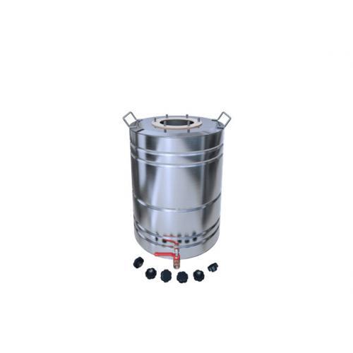 Перегонный куб Добрый Жар, с ребрами жесткости, с краном, 30 литров, матовый