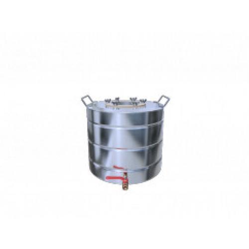 Перегонный куб Добрый Жар, с ребрами жесткости, с краном, 40 литров, матовый