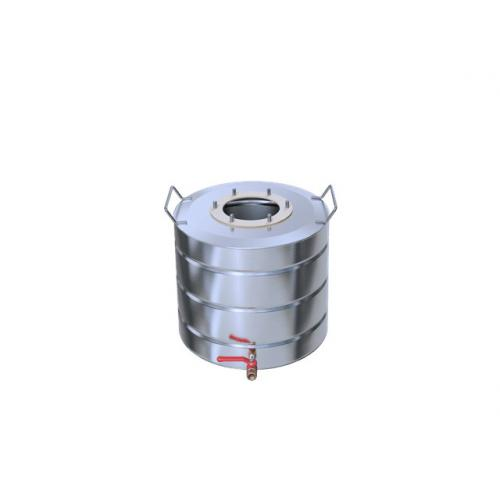 Перегонный куб Добрый Жар, с ребрами жесткости, с краном, 35 литров, матовый