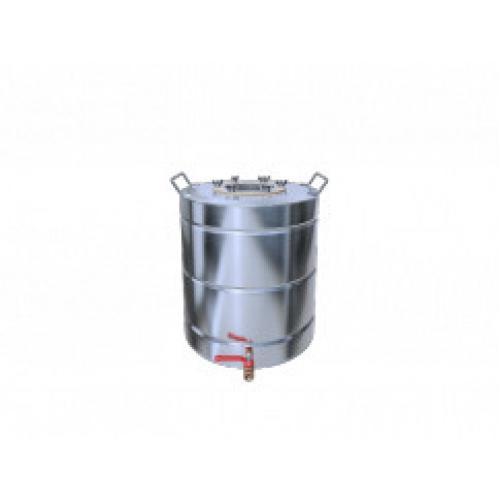 Перегонный куб Добрый Жар, с ребрами жесткости, с краном, 50 литров, матовый