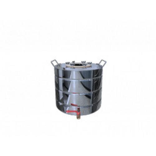 Перегонный куб Добрый Жар, с ребрами жесткости, с краном, 20 литров, зеркальный