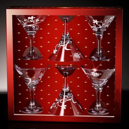 Бокалы мартини М410 Изящная ветвь, 190 мл, 6 штук