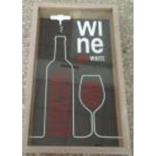 Накопитель для винных пробок, 21x5x35 см, арт. 138806