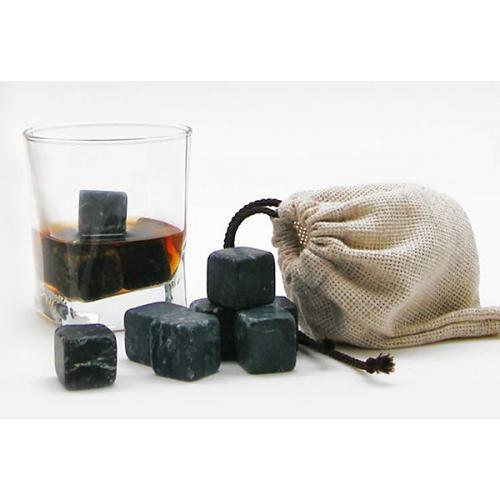 Камни для виски (в тубусе), 12 штук + стакан
