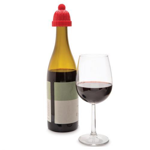 Пробка для бутылки Beanie, красный