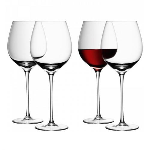 Бокал для красного вина Wine, 4 штуки, 750 мл