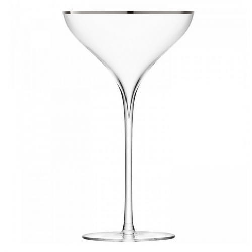 Бокал-креманка для шампанского Savoy, 2 штуки (с платиновой кромкой)