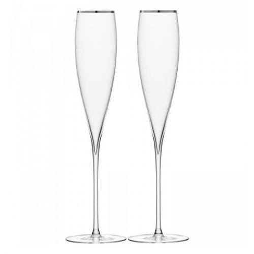 Бокал-флейта для шампанского Savoy, 2 штуки (с платиновой кромкой)
