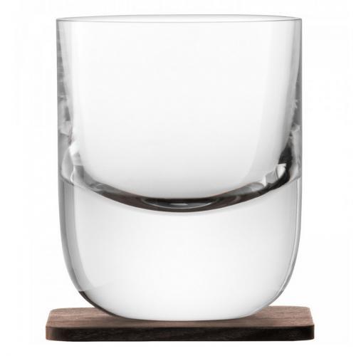 Стакан Renfrew Whisky, с деревянной подставкой, 2 штуки