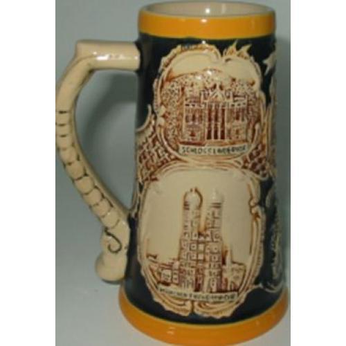 Пивная кружка коллекционная Замки Баварии, 380 мл, арт. 224438
