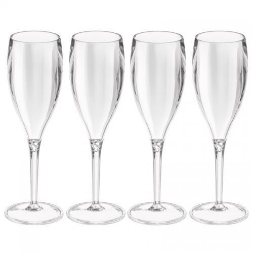 Набор бокалов для шампанского Superglas Cheers NO. 1, 100 мл, прозрачный (4 штуки)