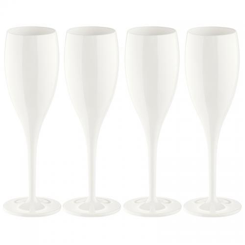 Набор бокалов для шампанского Superglas Cheers NO. 1, 100 мл, белый (4 штуки)