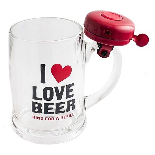 Кружка со звонком Я люблю пиво
